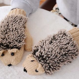 Image of Hedgehog Knit Mittens