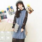 Sleeveless Knit Dress / Long-Sleeve Midi Lace Dress 1596