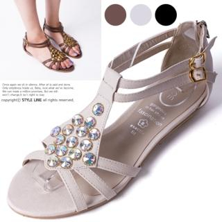 Buy STYLE LINE Rhinestone Accent Sandals 1022897002