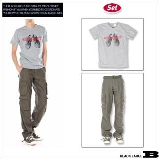 Buy Style Impact Set: Crewneck Tee + Cargo Pants + Belt 1022398272