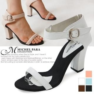 Picture of MICHEL PARA COLLECTION Genuine Leather Sandals 1022937698 (Sandals, MICHEL PARA COLLECTION Shoes, Korea Shoes, Womens Shoes, Womens Sandals)