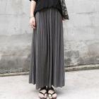 Pleated Maxi Skirt 1596