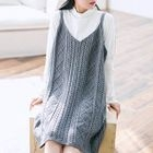 Ribbed Strap Knit Dress 1596