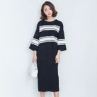 Set: Striped Knit Top + Knit Skirt 1596