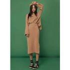Set: Mock-Neck Wool Blend Knit Top + Pencil Skirt 1596