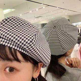 Plaid | White | Black | Size | Hat | One