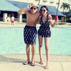 Couple Print Swimdress / Swim Shorts от YesStyle.com INT