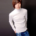 Turtleneck Long Sleeve Top White от YesStyle.com INT
