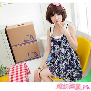 Buy Wonderland Layered Chiffon Dress 1022836579