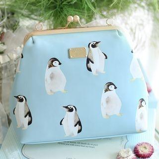Penguin Print Crossbody Bag