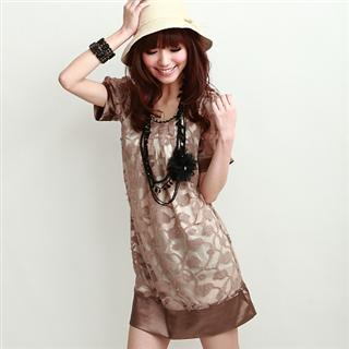 Buy Vivicam Open Knit Floral Pattern Dress 1022452987
