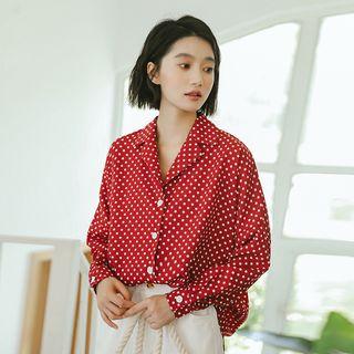 Image of Dotted Notch Lapel Shirt