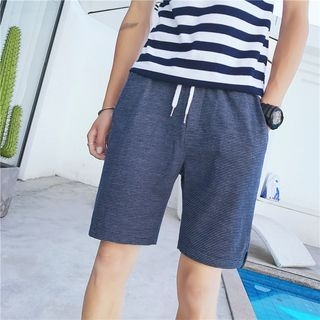Striped Drawstring Shorts 1060212854