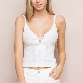 Lace-Up Camisole Top 1050364192