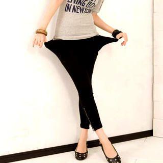 Buy I'Miusa Drape Pocket Side Zipped Leggings 1021499355