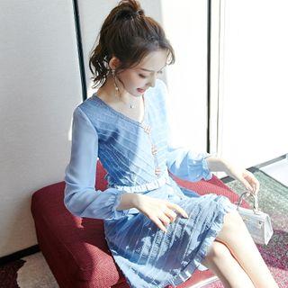 Long-sleeve | Chiffon | Dress | Mini
