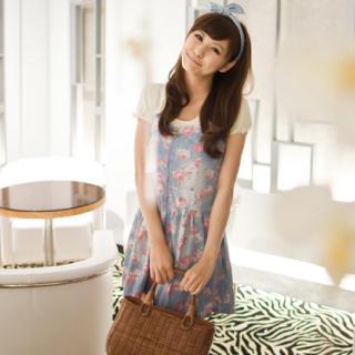 Buy LULUS Sleeveless Floral Denim Mini Dress 1022922484