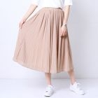 Accordion Pleated Midi Skirt 1596