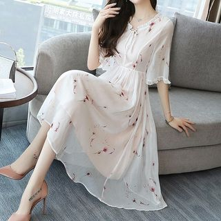 Chiffon   Floral   Dress   Print