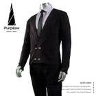 Double Buttoned Cardigan + Short Point Collar Shirt + Neck Tie
