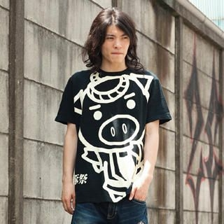 Picture of Buden Akindo Print Crewneck T-Shirt - Beautiful Pig Festival 1022723347 (Buden Akindo, Mens Tees, Japan)