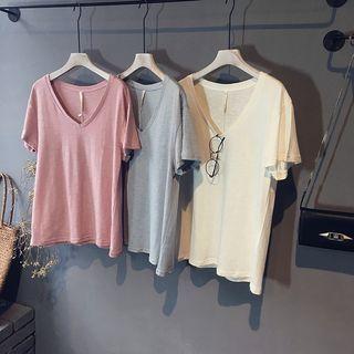 V-neck Short-Sleeve T-shirt 1050009765
