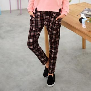 Checked Pants Red - One Size