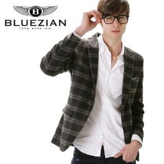 Picture of BLUEZIAN Plaid Blazer 1022557628 (BLUEZIAN, Mens Jackets, Korea)