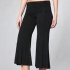 Wide-Leg Cropped Yoga Pants 1596