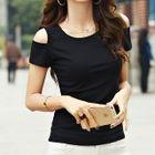 Cutout Shoulder Short-Sleeve T-shirt 1596
