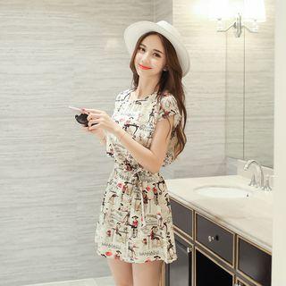 Tie-Waist Patterned Dress 1060221092