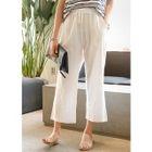 Drawstring-Waist Cotton Wide-Leg Pants 1596