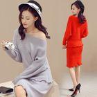 Set: Knit Top + Skirt 1596