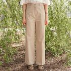 High-Waist Wide-Leg Cotton Pants 1596