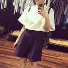 Set : Short-Sleeve Blouse + Shorts 1596