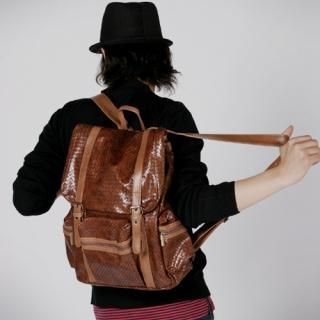 Buy Hwang Kum Style Faux Leather Backpack 1021303336
