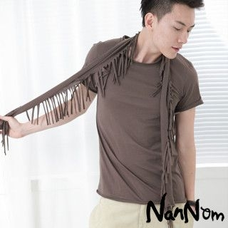 T-Shirt with Detachable Scarf