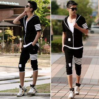 Set: Stripe Zip Jacket + Pedal Sweatpants 1049490226
