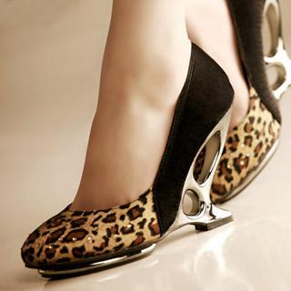 Buy Kvoll Rhinestone Leopard Print Pumps 1022463827