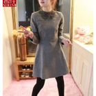 Long-Sleeve A-Line Dress 1596