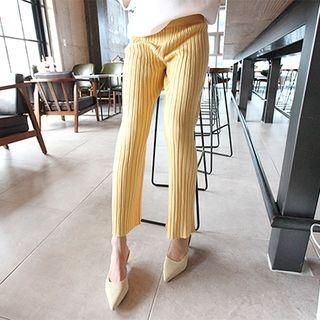 Maternity Wide-Leg Ribbed Pants 1058389924