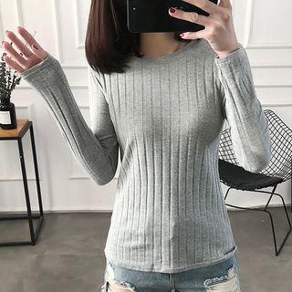 Ribbed Long-Sleeve T-Shirt 1064870974
