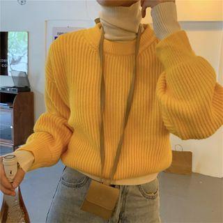 Plain Sweater / Turtleneck Knit Top