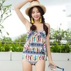 Set: Patterned Bikini + Shorts 1596