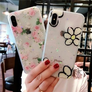 Flower Print Phone Case - iPhone 6 / 6 Plus / 7 / 7 Plus / 8 / 8 Plus / X 1066762359