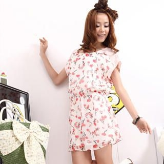 Picture of 19th Street Cherry Print Chiffon Dress 1022589959 (19th Street Dresses, Womens Dresses, China Dresses, Chiffon Dresses)