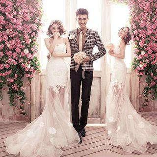 Strapless   Wedding   Dress   Lace