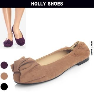 Buy Holly Shoes Floral Accent Faux-Suede Flats 1023058841