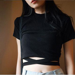 Short-sleeve | T-Shirt | Black | Size | One