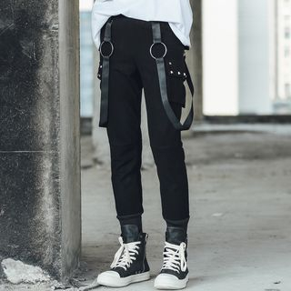 Studded Pocket Suspender Pants